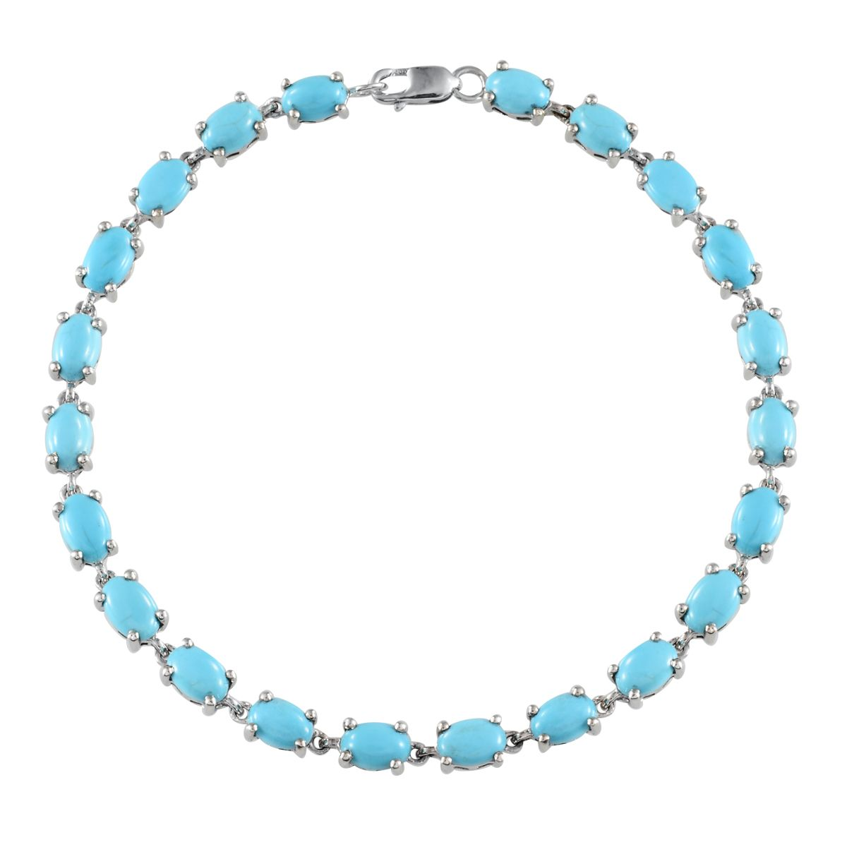 10K WG Arizona Sleeping Beauty Turquoise Bracelet (7 50 In) TGW 9 200 cts