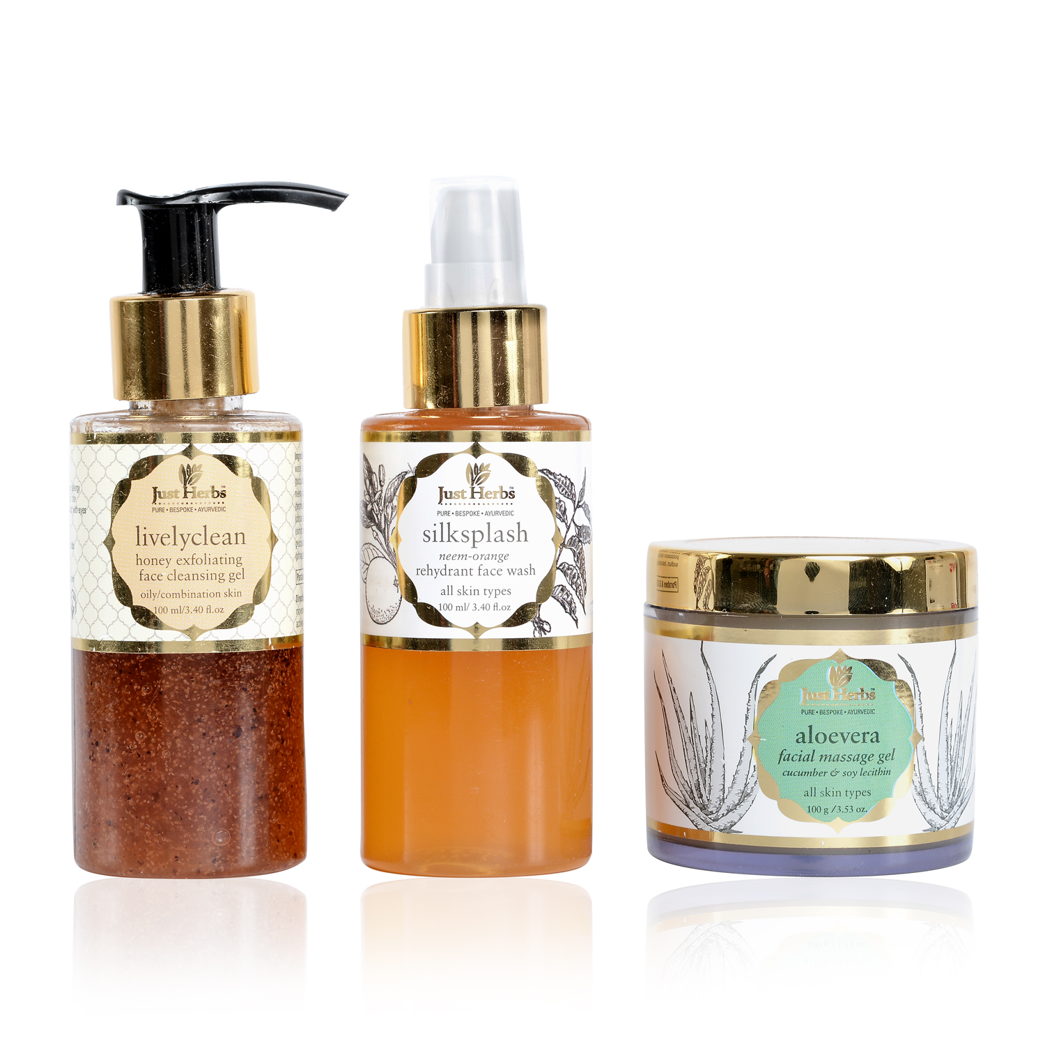 Just Herbs 3-Step Facial Regime Kit (Oily/Normal)