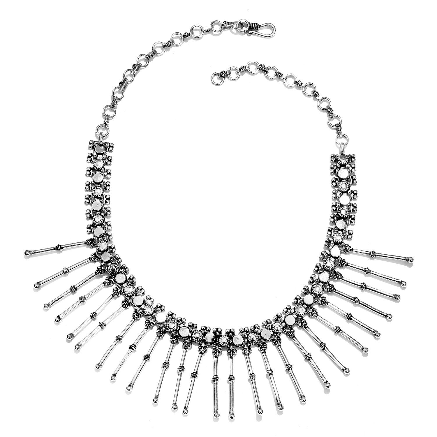 Tribal Collection of India Sterling Silver Necklace (18 in, 85 g)