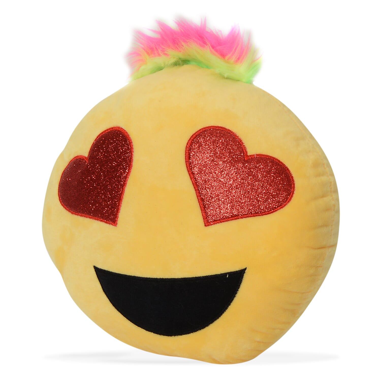 Rockstar Heart Eyes Emoji Pillow