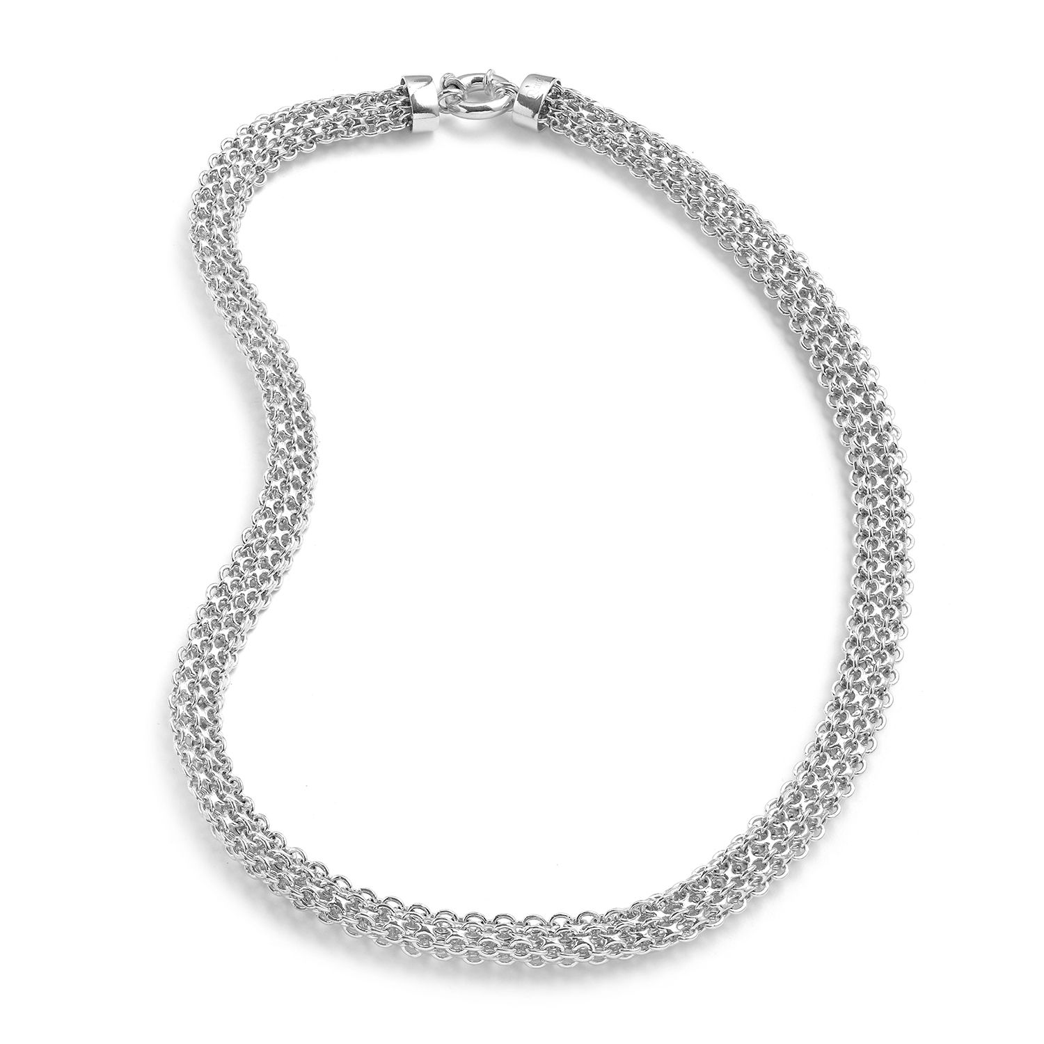 96ae3479666a0 Milaan Sterling Silver Widen Rolo Necklace (20 in, 32.6 g)