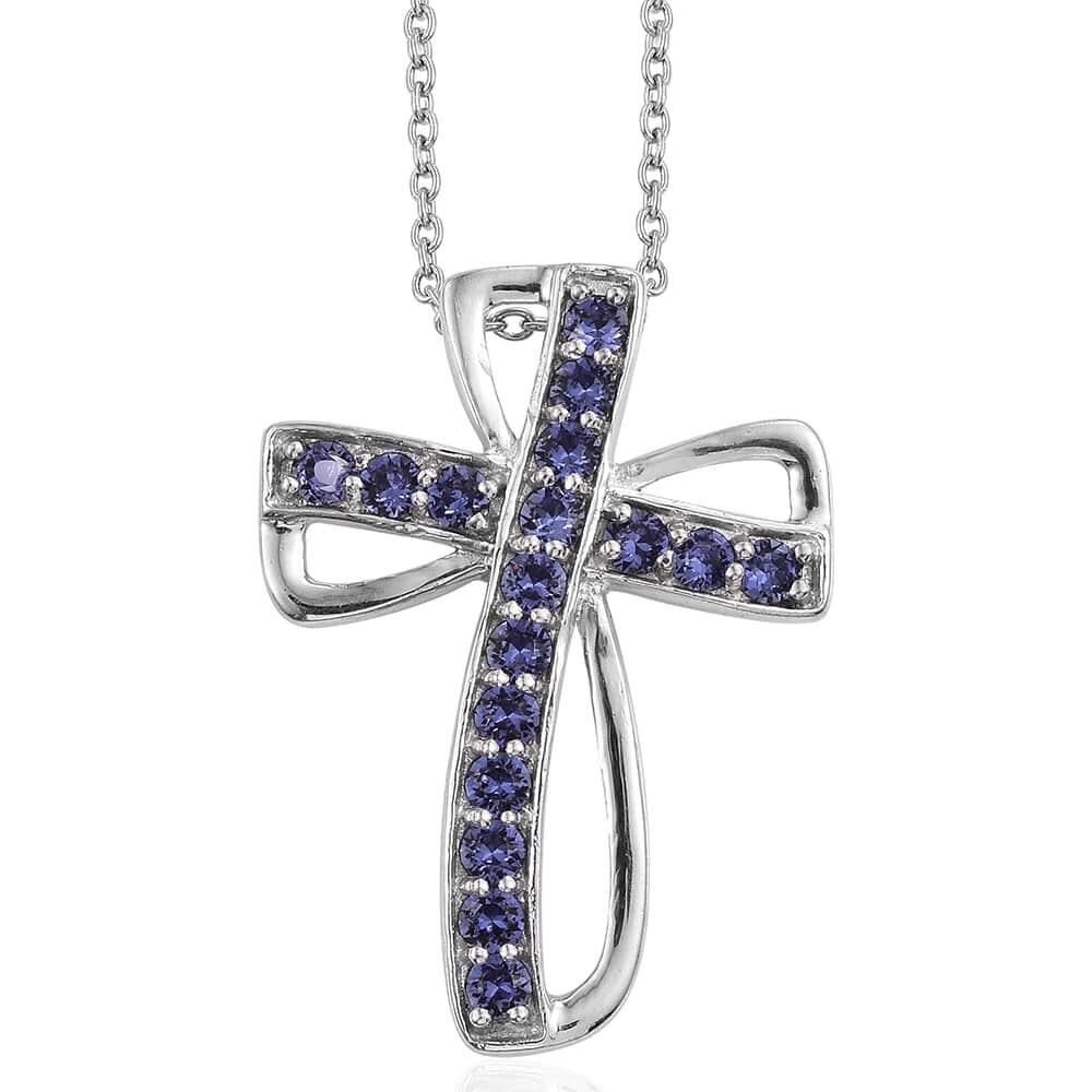 56bf05c7b1d4b KARIS Collection - Platinum Bond Brass Cross Pendant With Stainless ...