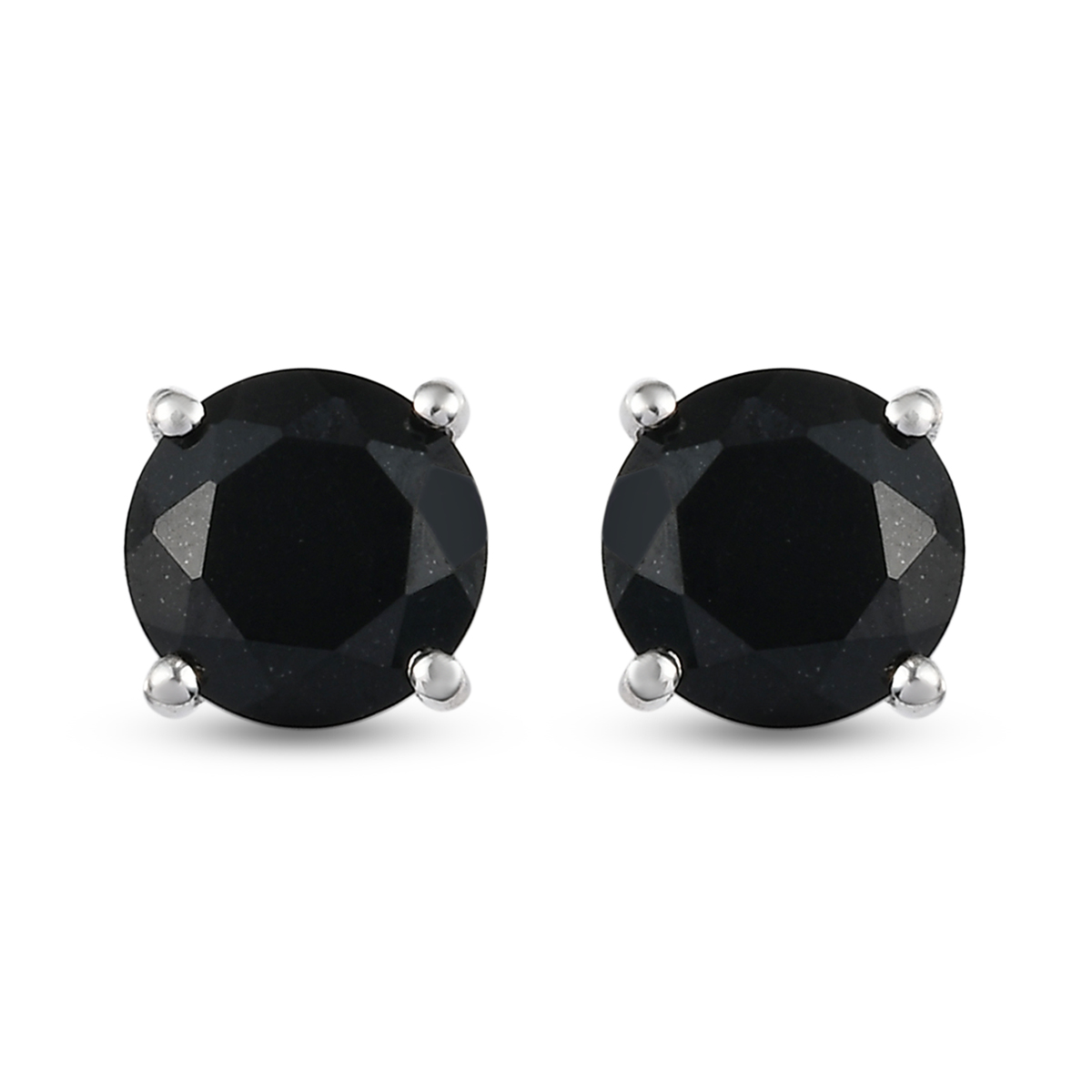 e589e7382 Australian Black Tourmaline Platinum Over Sterling Silver Stud Earrings TGW  4.22 cts. | Shop LC