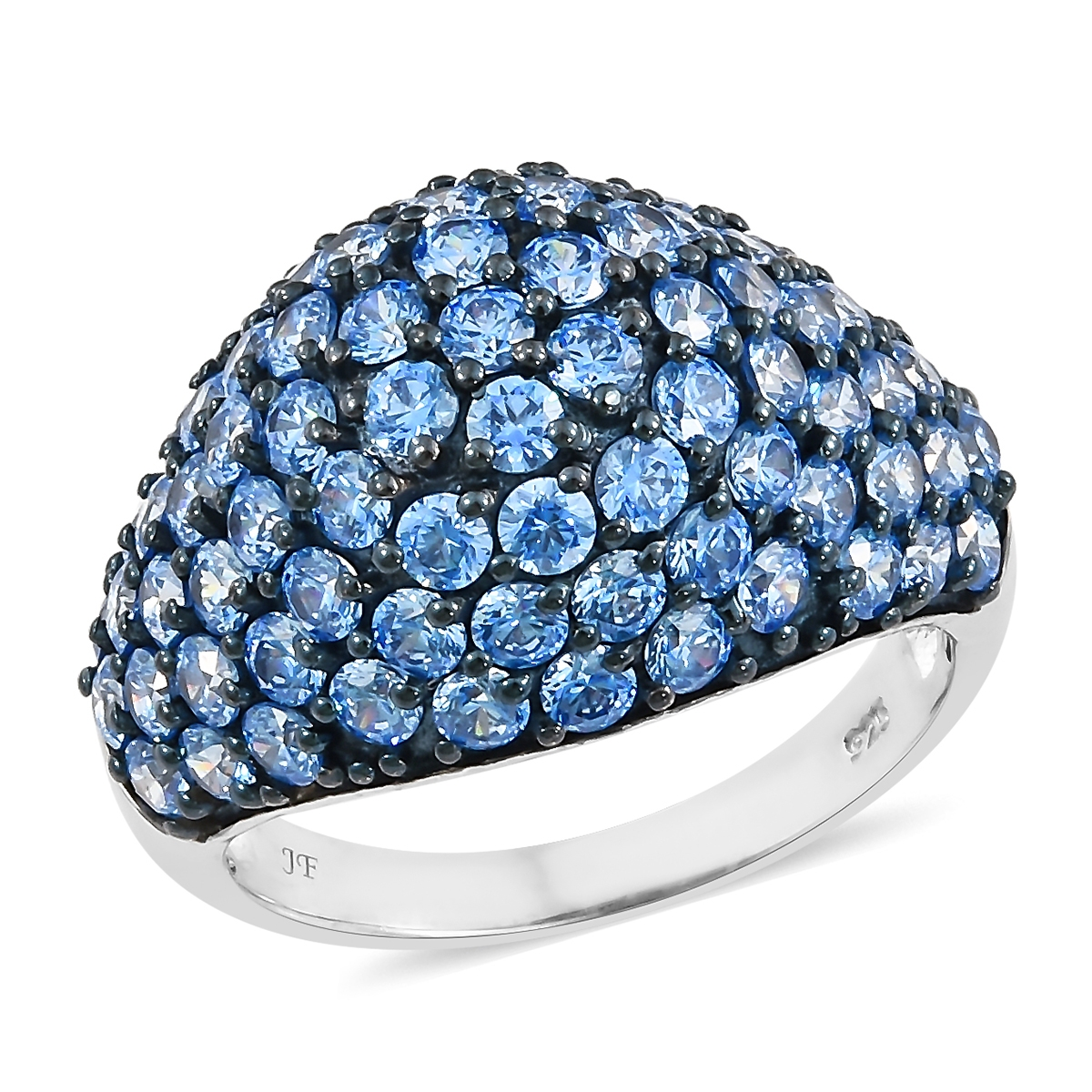 de9b5033c J Francis - Platinum Over Sterling Silver Cluster Ring Made with Arctic  Blue SWAROVSKI ZIRCONIA (Size 7.0) TGW 9.10 cts. | Shop LC