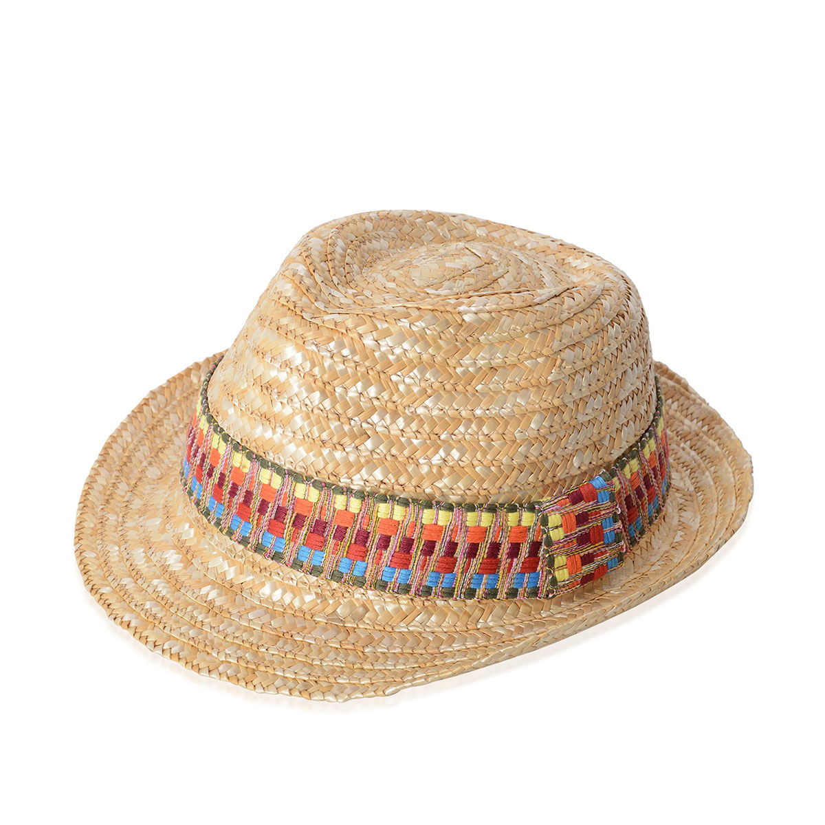 82e94c971 Natural 100% Straw Paper Trilby Hat (One Size)
