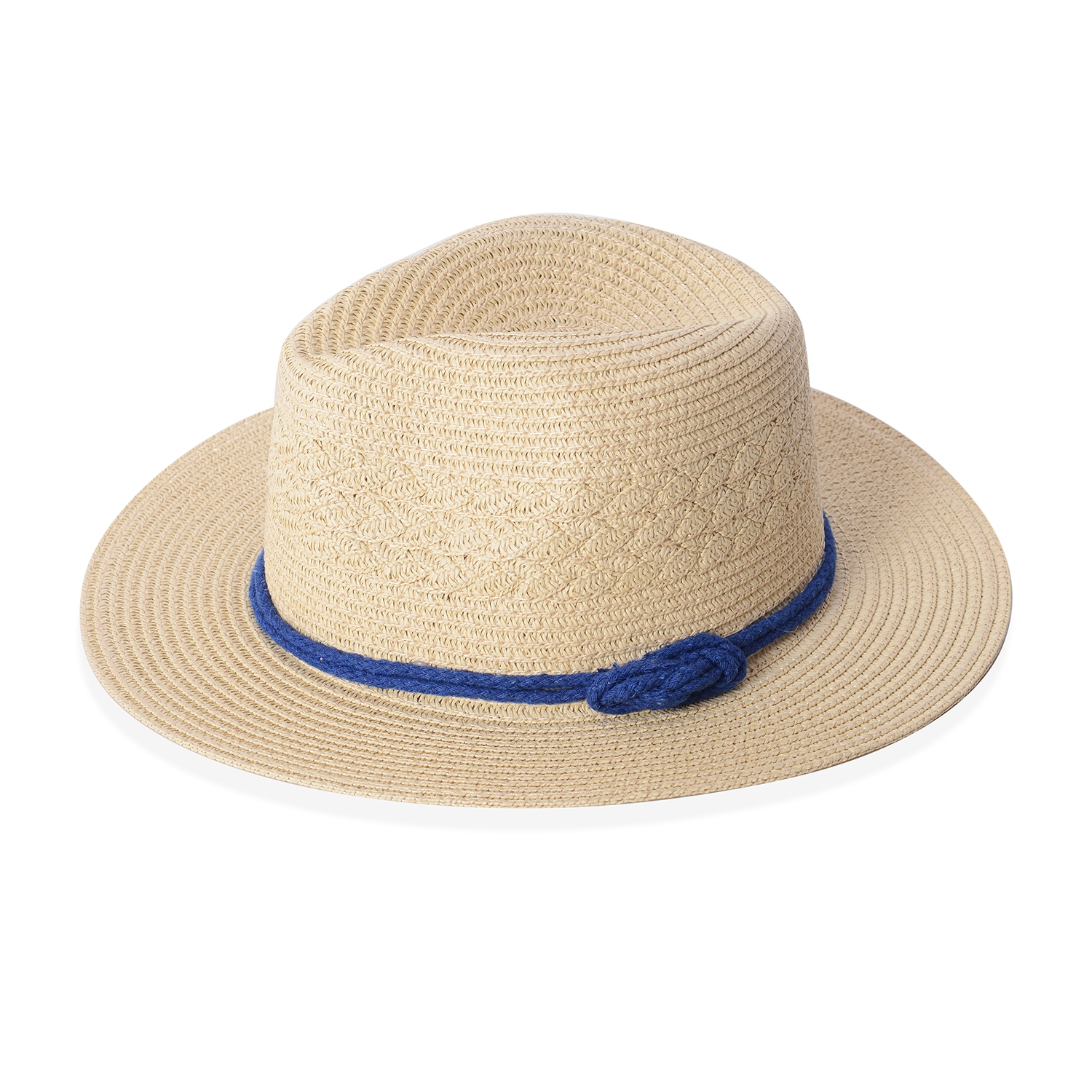 dff2b872c Natural 100% Straw Paper Bow String Fedora Hat (12.5 in)