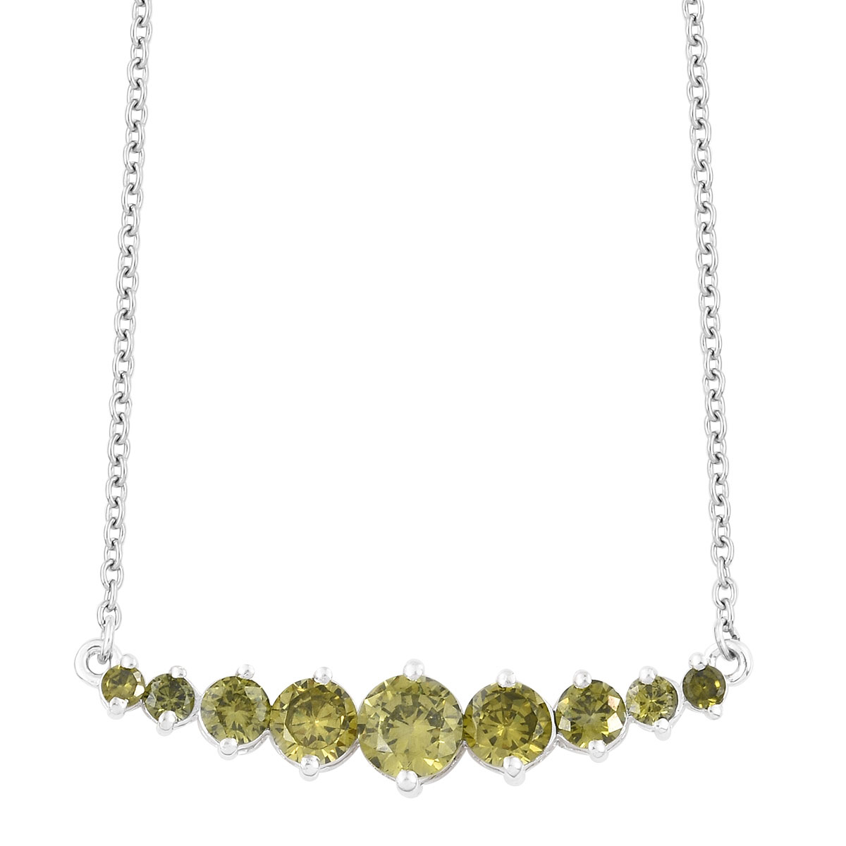 Peridot Pearl Necklace 18 19 Inch AAA 14k Gold filled Sterling Silver Chain