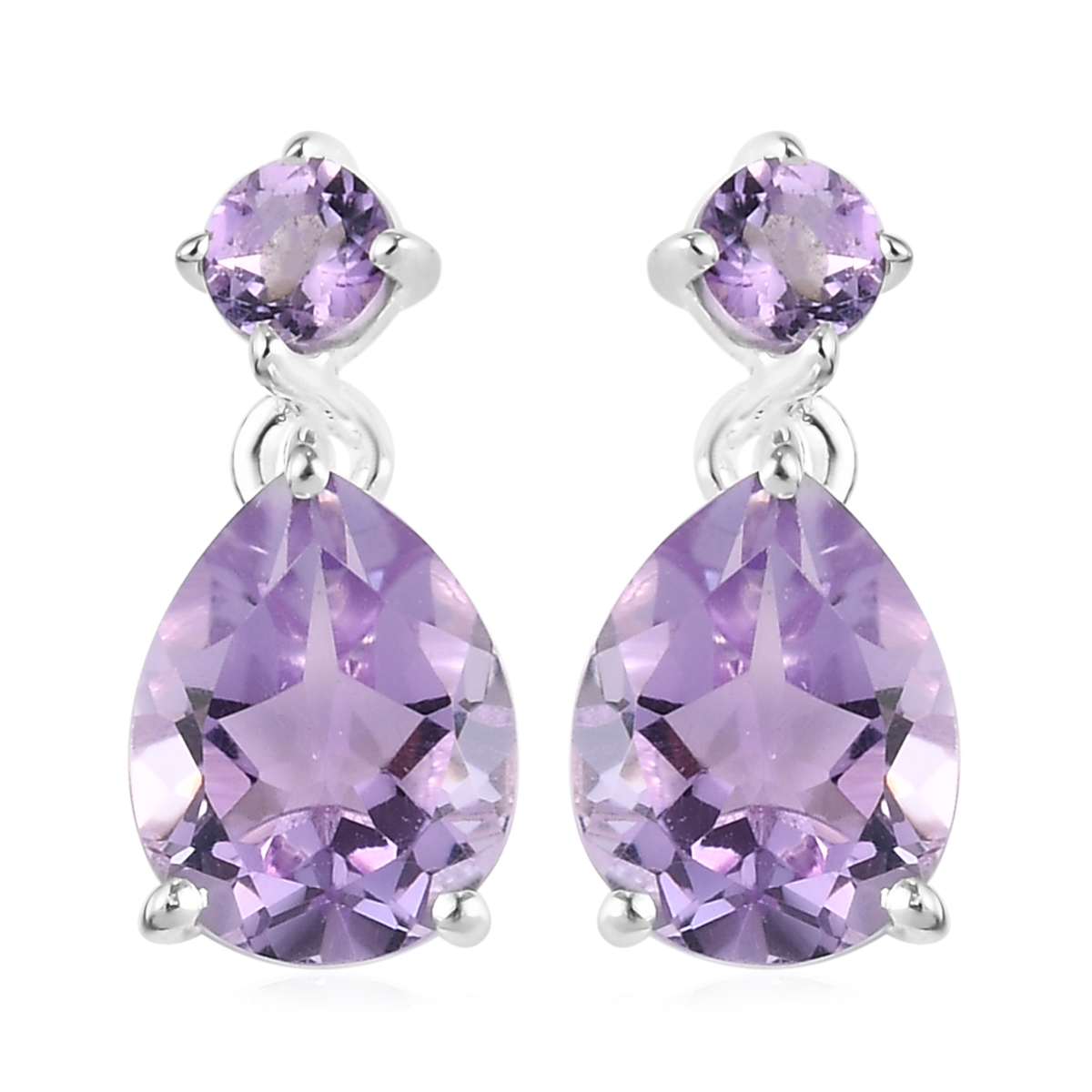 Purple Octagon-Shape Facted Earrings for American Model 22 in Doll