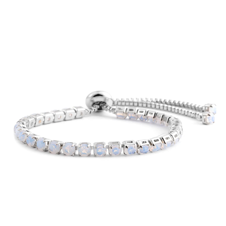 Lab Created Opal Bolo Bracelet in Silvertone