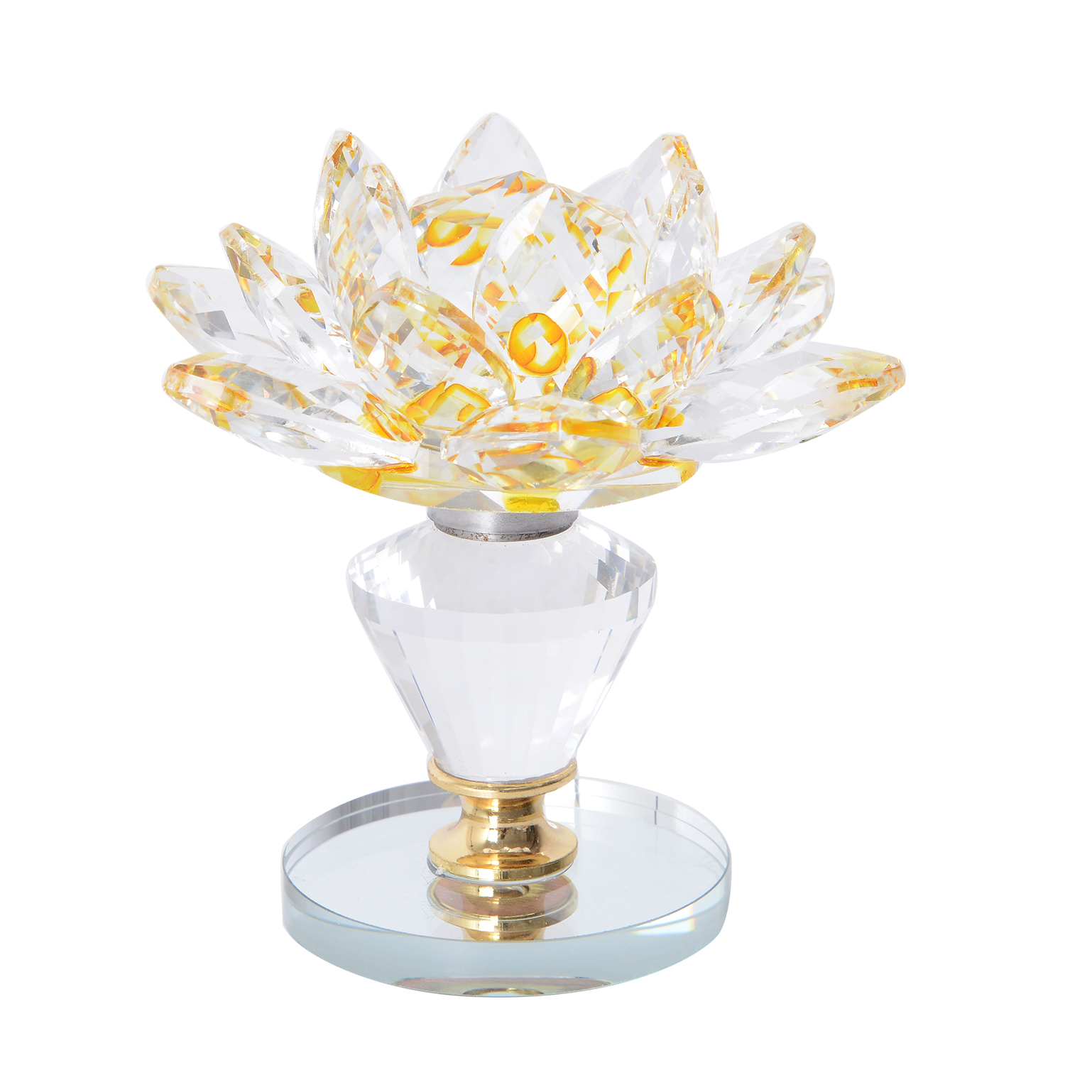 Yellow Crystal Decorative Rotating Lotus Flower 35 In Shop Lc