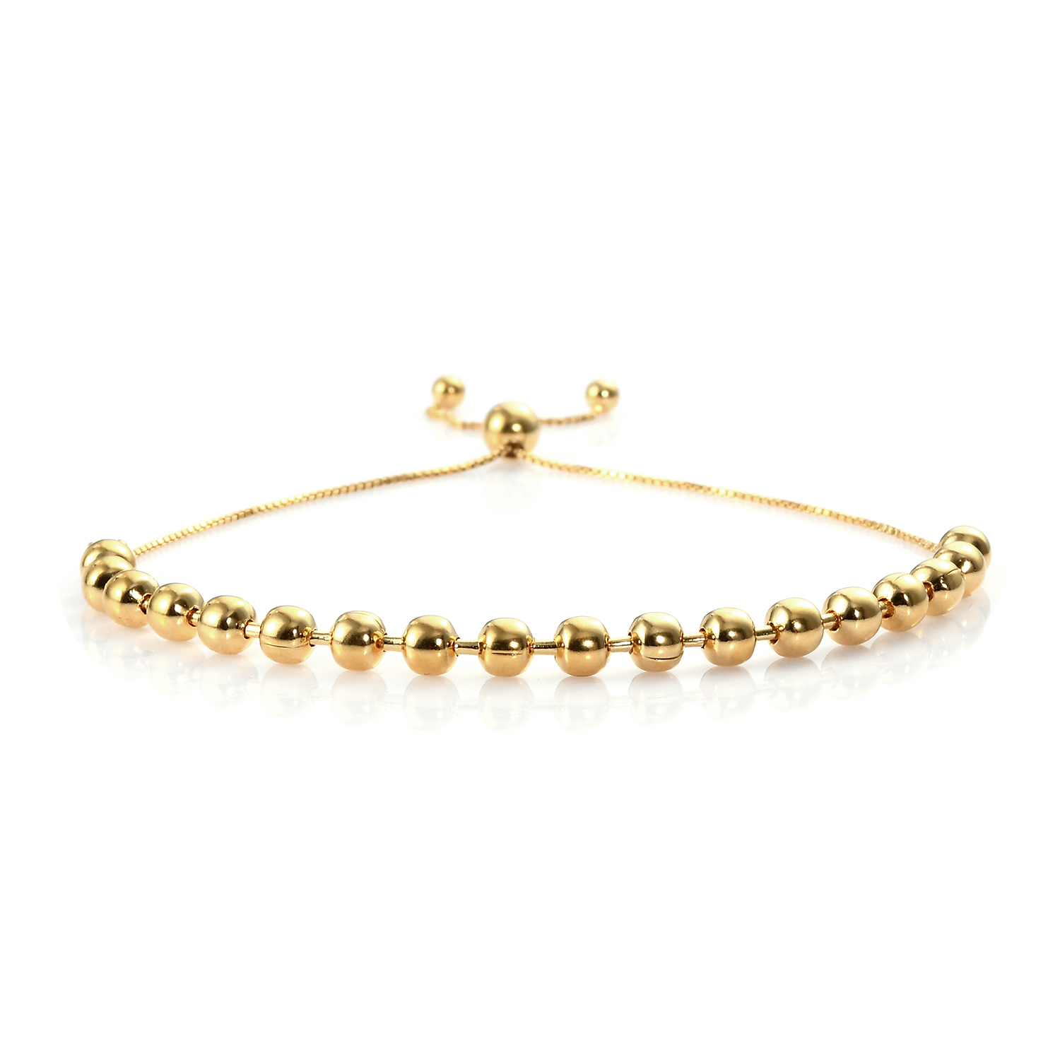 Bolo Bracelet in 14K Yellow Gold over Sterling Silver (4 g)