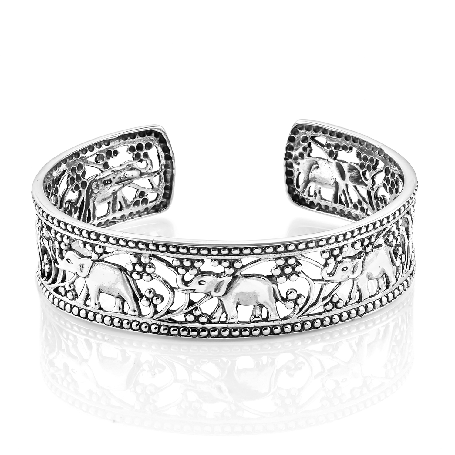 44bb5da6c42aa Bali Legacy Collection Elephant Cuff (7.50 in) in Sterling Silver ...