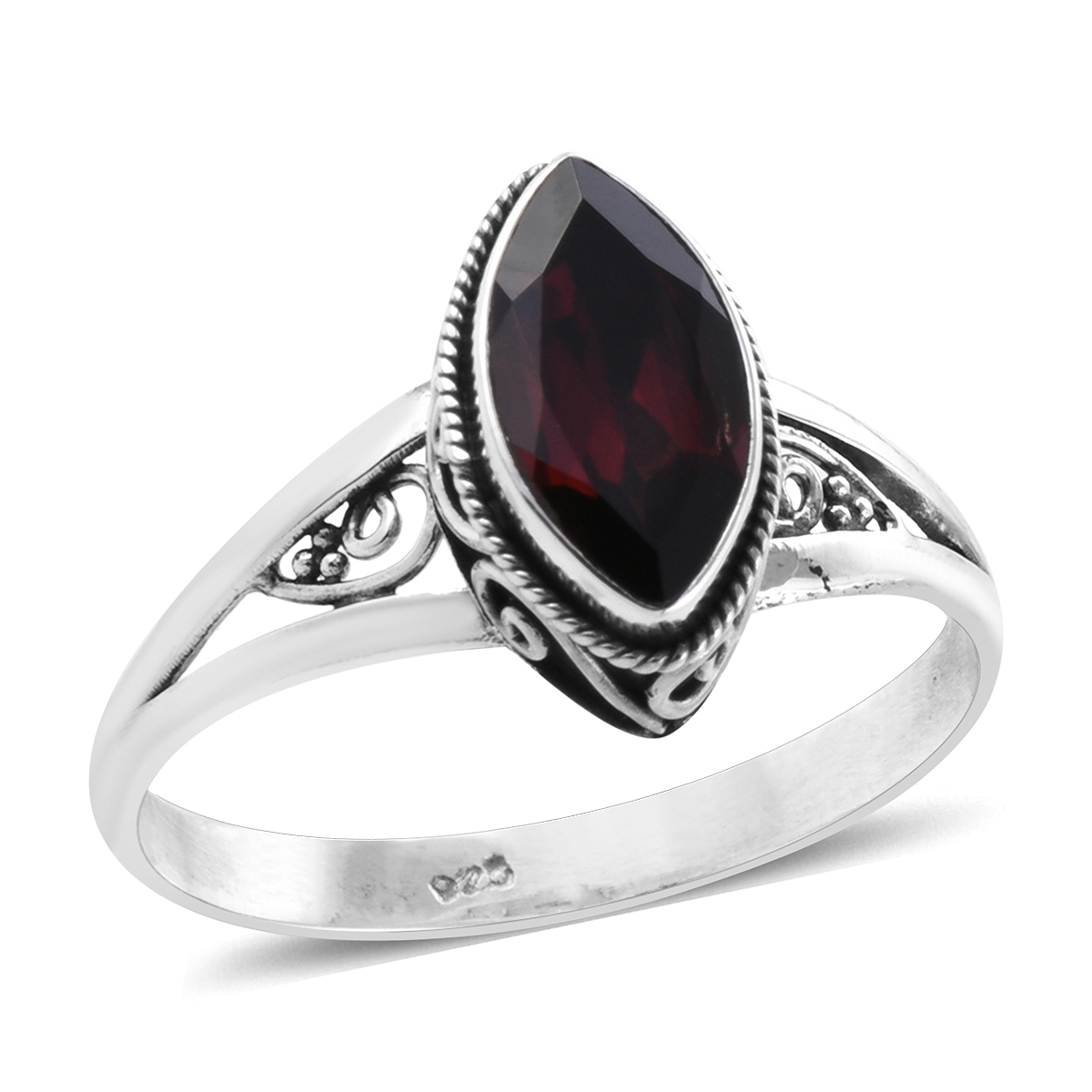 Memorial Day Mozambique Garnet Ring in Sterling Silver (Size 10.0) 1.98 ctw