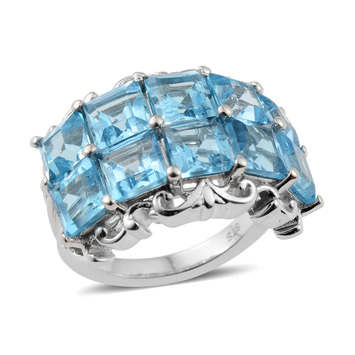 Marambaia Topaz Ring in Platinum Over Sterling Silver (Size 5.0) 8.50 ctw