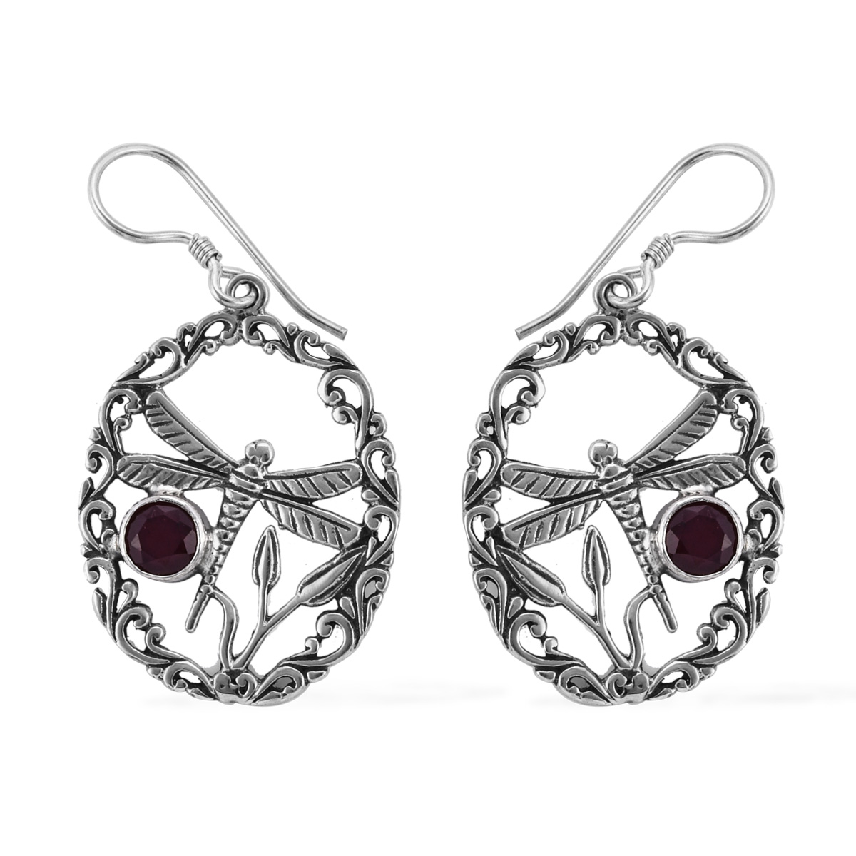 defff7d93 Bali Legacy African Ruby Earrings in Sterling Silver 2.66 ctw | Shop LC