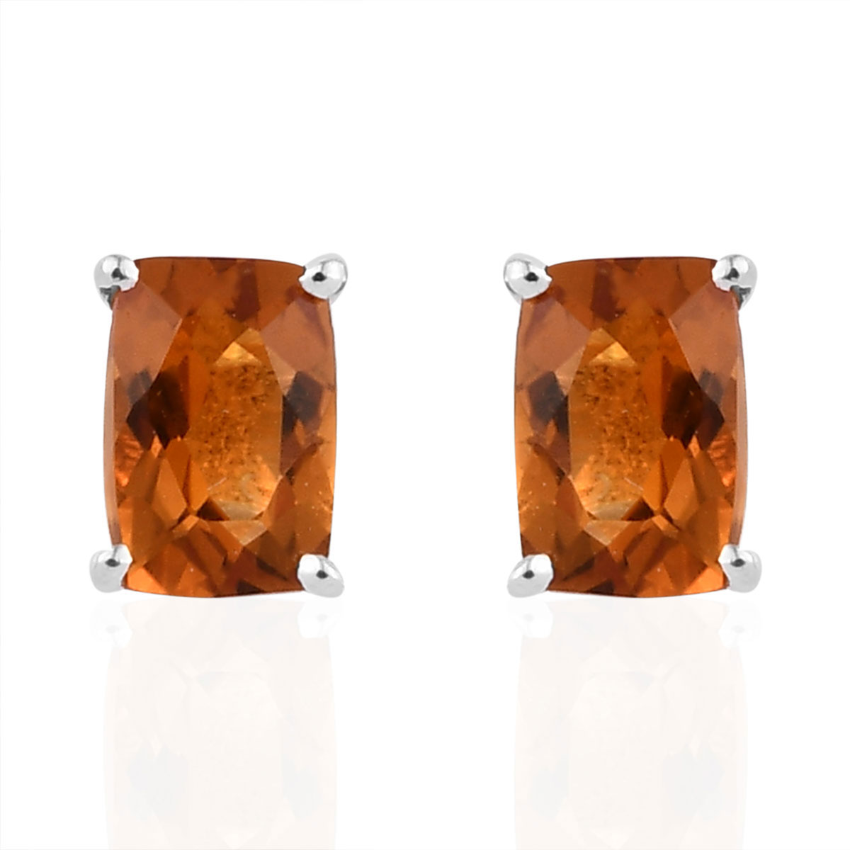 Solitaire-Earrings-925-Sterling-Silver-Cushion-Citrine-Jewelry-for-Women-Ct-1