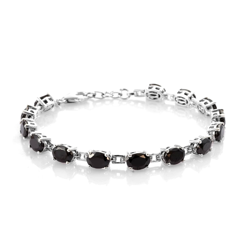 Shungite Bracelet in Platinum Over Sterling Silver (7 25 In) 6 56 ctw