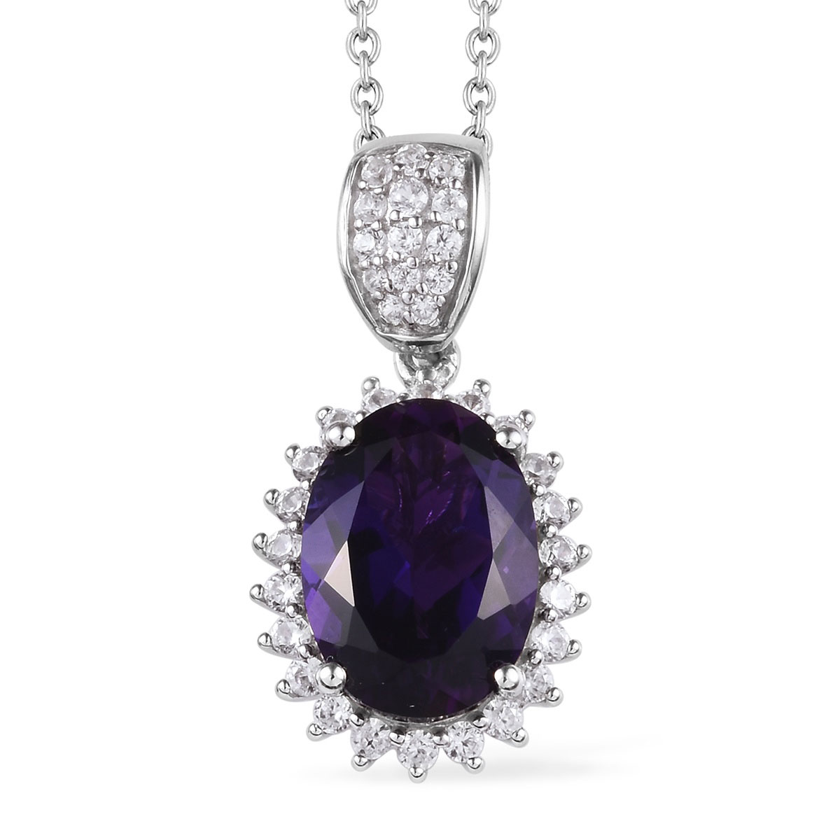 6.75 CT Amethyst Sterling Silver Pendant