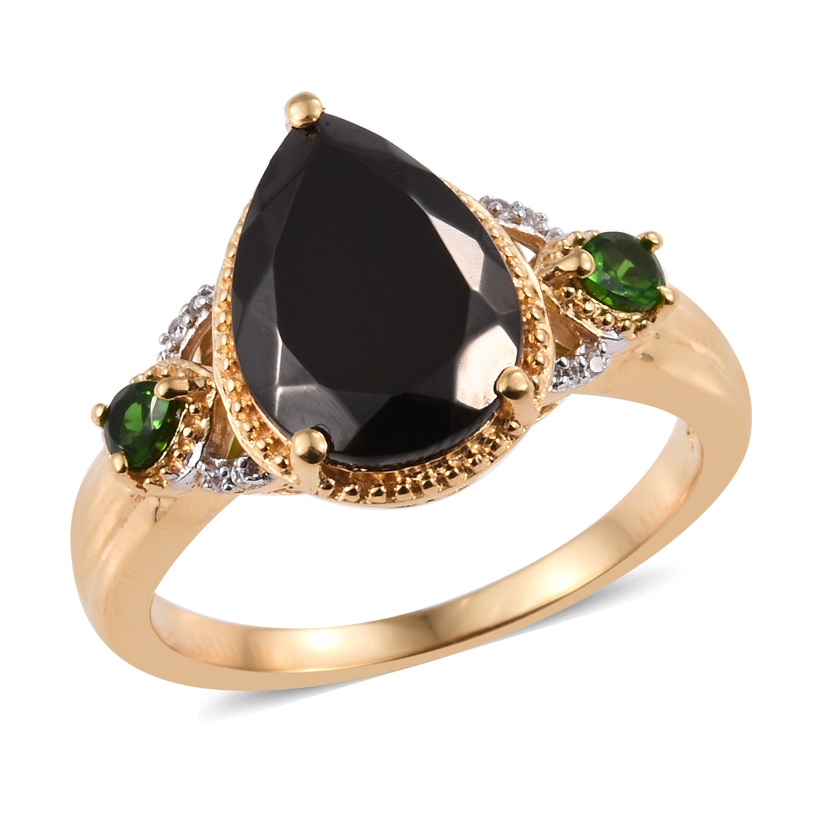 Shungite, Multi Gemstone Ring in Vermeil YG Over Sterling Silver (Size 8.0) 3.70 ctw