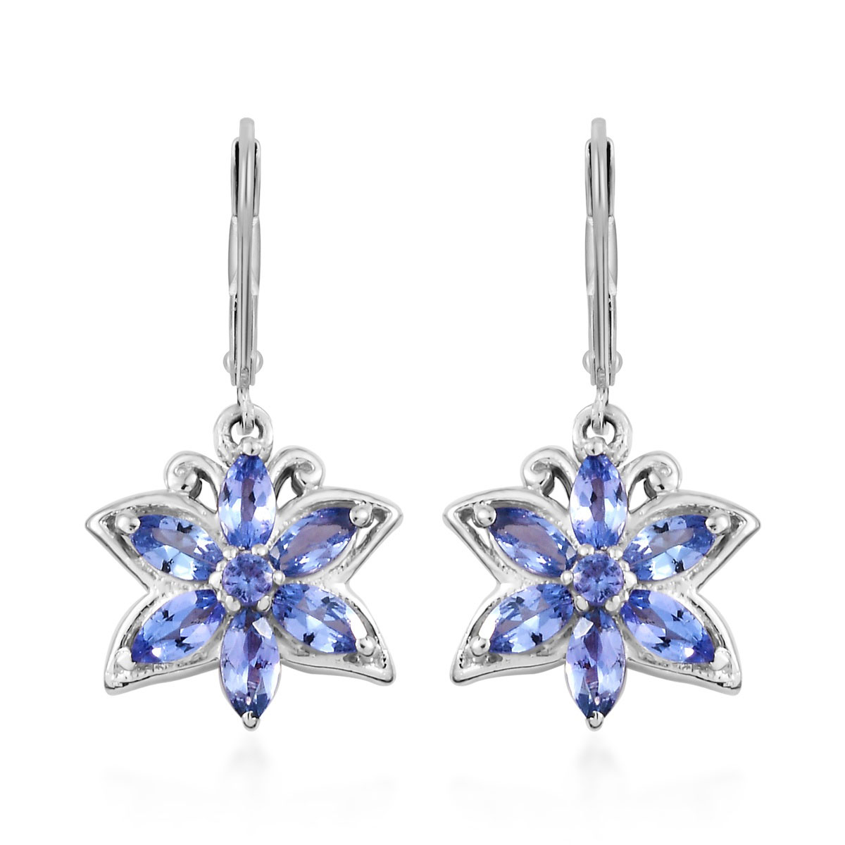 872c7a5eb Tanzanite Earrings in Platinum Over Sterling Silver 1.75 ctw | Shop LC