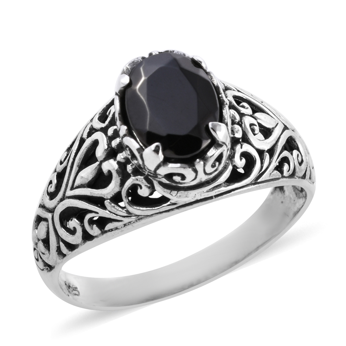 Bali Legacy Silver Shungite Ring in Sterling Silver (Size 7 0) 1 10 ctw