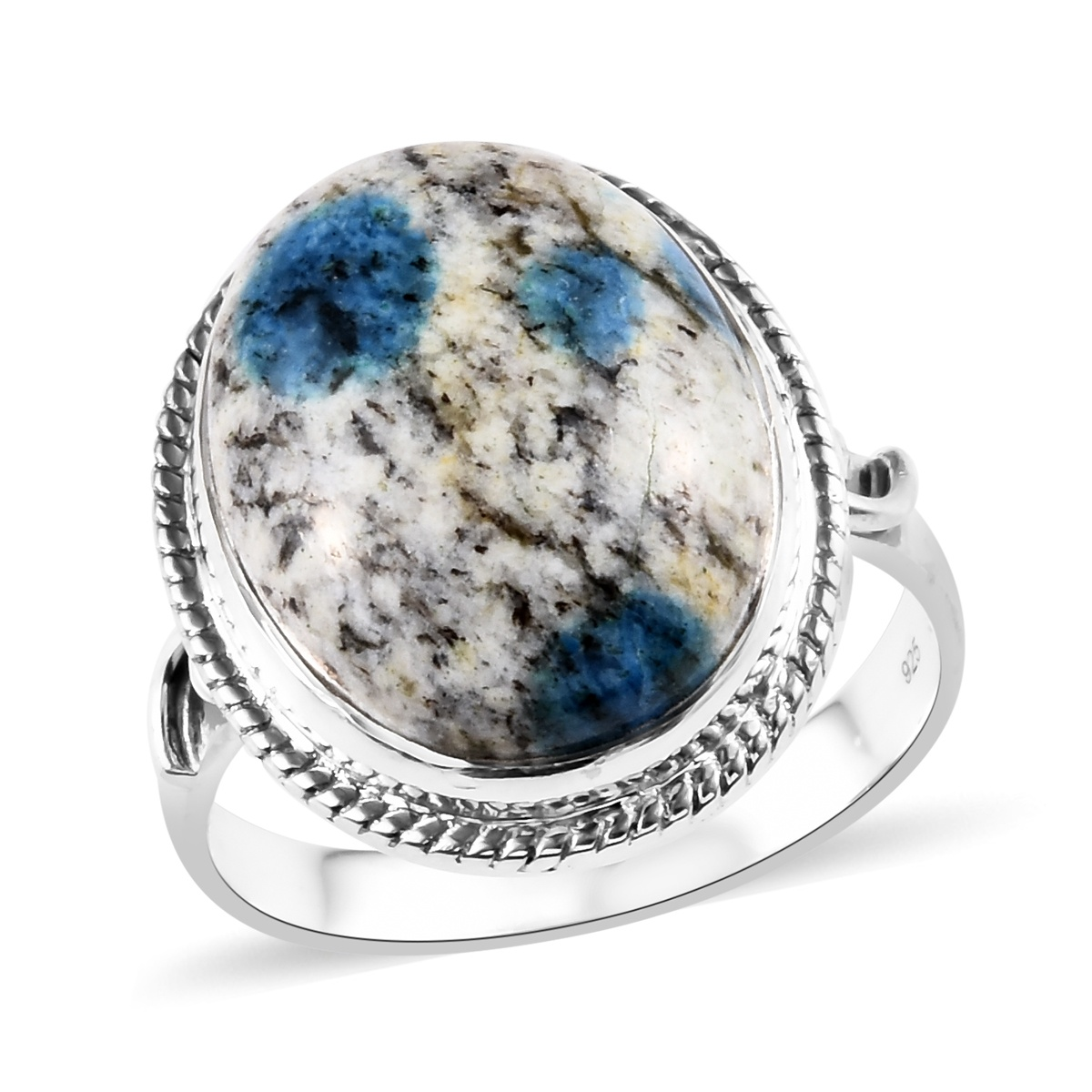 Becky's Host Pick Artisan Crafted K2 Jasper Ring in Sterling Silver (Size 11.0) 17.40 ctw