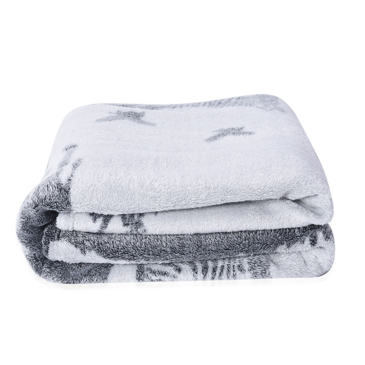Blush Floral Embossed Microfiber Flannel Blanket Throw Soft Luxury for Couch