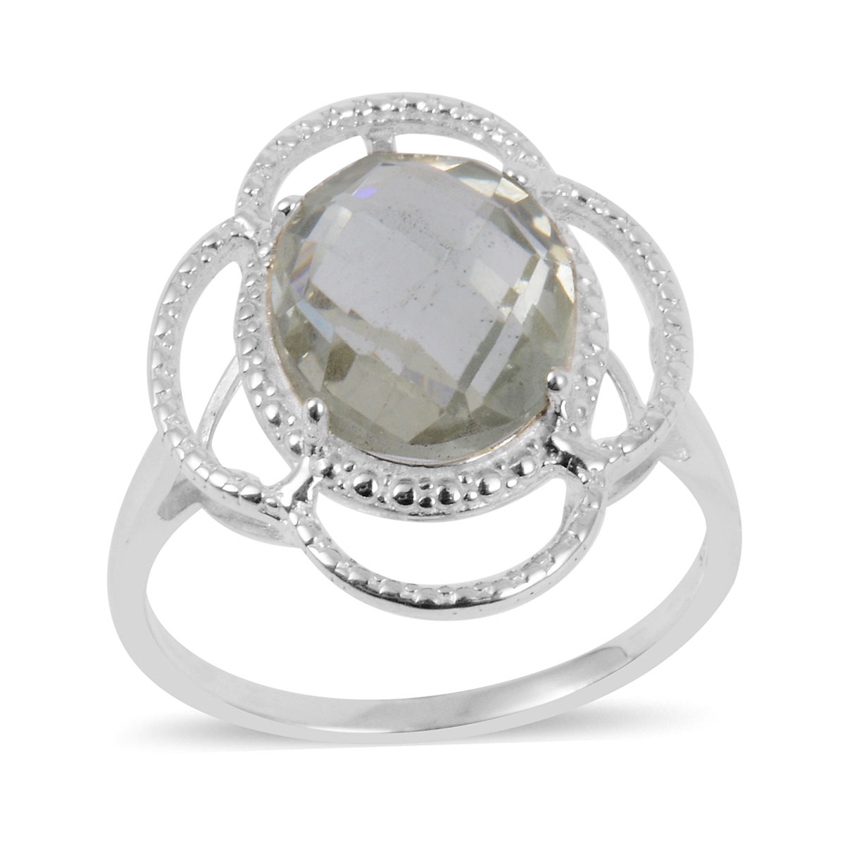 925 Sterling Silver Amethyst Solitaire Ring Jewelry for Wome