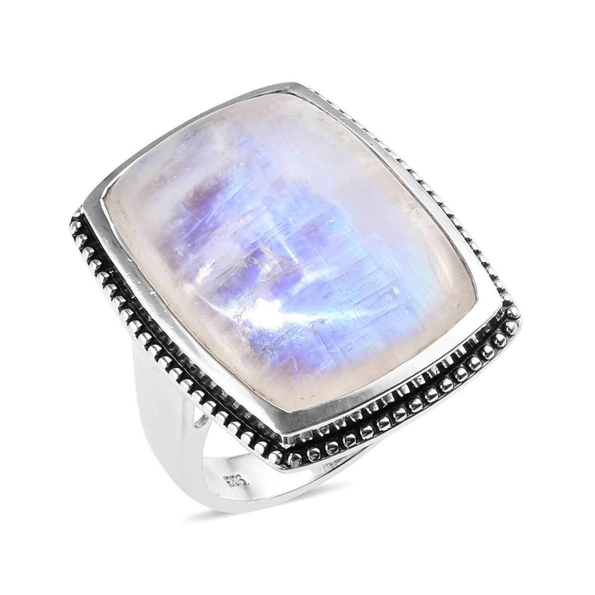 925 Sterling Silver Rainbow moonstone Blue Topaz gemstone earrings jewelry 2.16