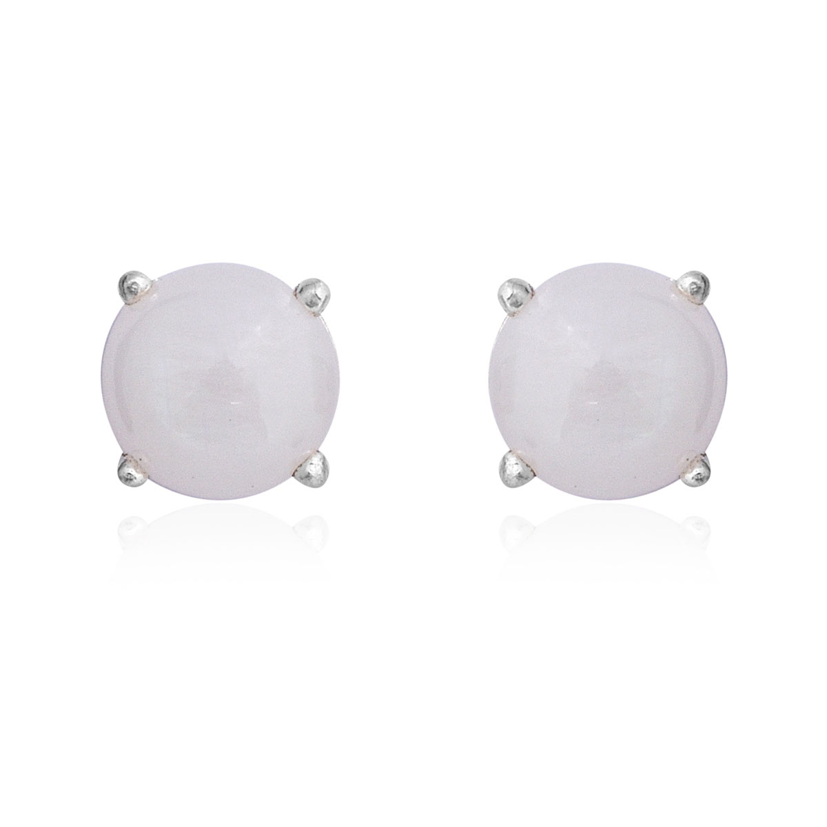 Rainbow Moonstone Stud Earrings In Sterling Silver 4 86 Ctw