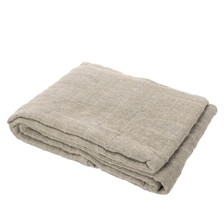 Homesmart Dark Gray Embossed Checker Pattern Faux Fur Sherpa Plush Blanket