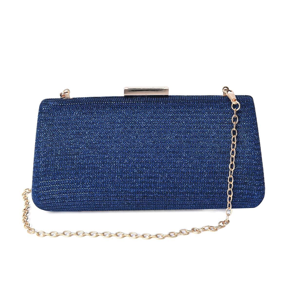 Minimalist Glossy Metallic Clutch Chain Bag Evening Bags Carry Purse Cross Body