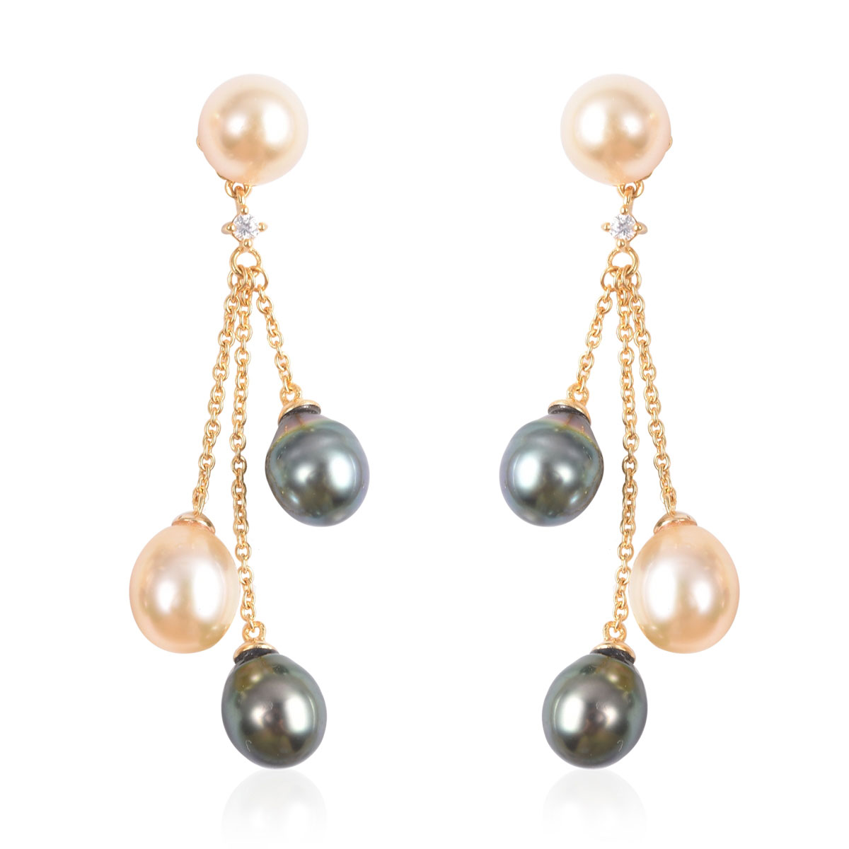 Ivory White Cultured Pearl Earrings Sterling Silver Lever Backs