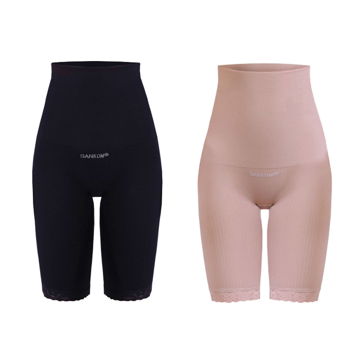 SANKOM Patent Shaper Women Size XXL #054 Black slimming posture