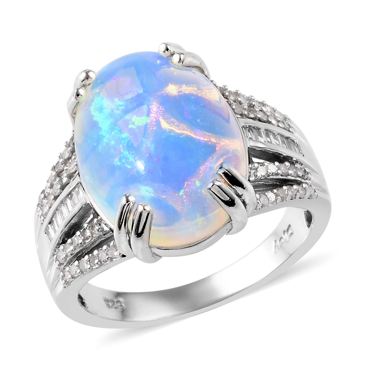 Yellow Color Play Orange Natural Gemstones Blue Red Sz 6 12 Black Welo Opal,Multi-Color Fancy Sapphire Accents,Sterling Silver Green