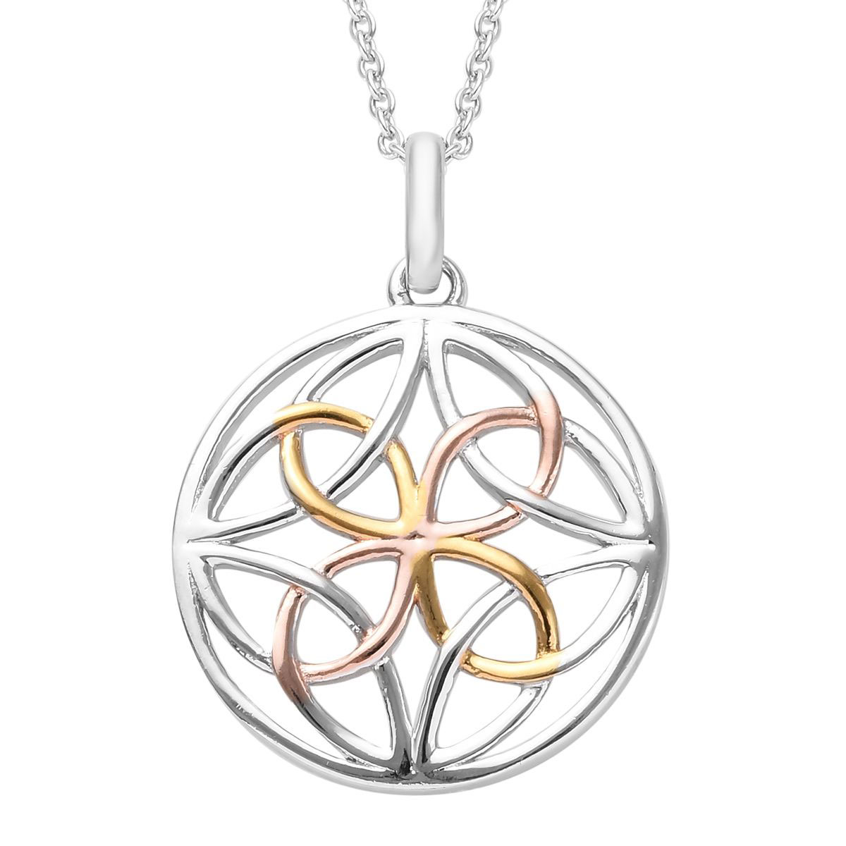 Sterling Silver and Rose Vermeil Key Pendant