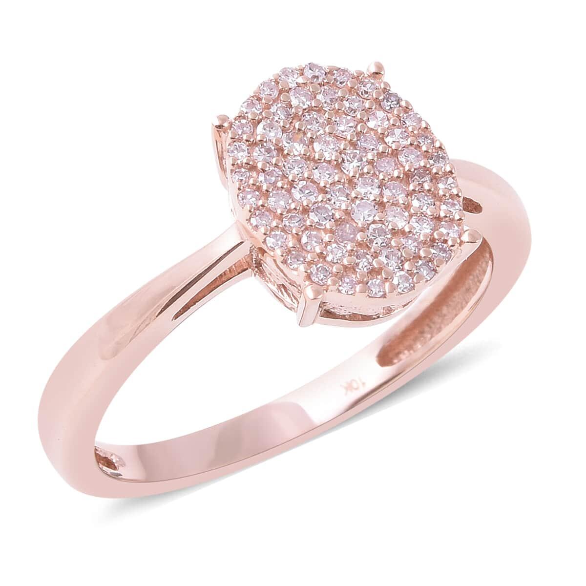 0.25 Ctw Natural Pink Diamond Ring In 10K Rose Gold (Size