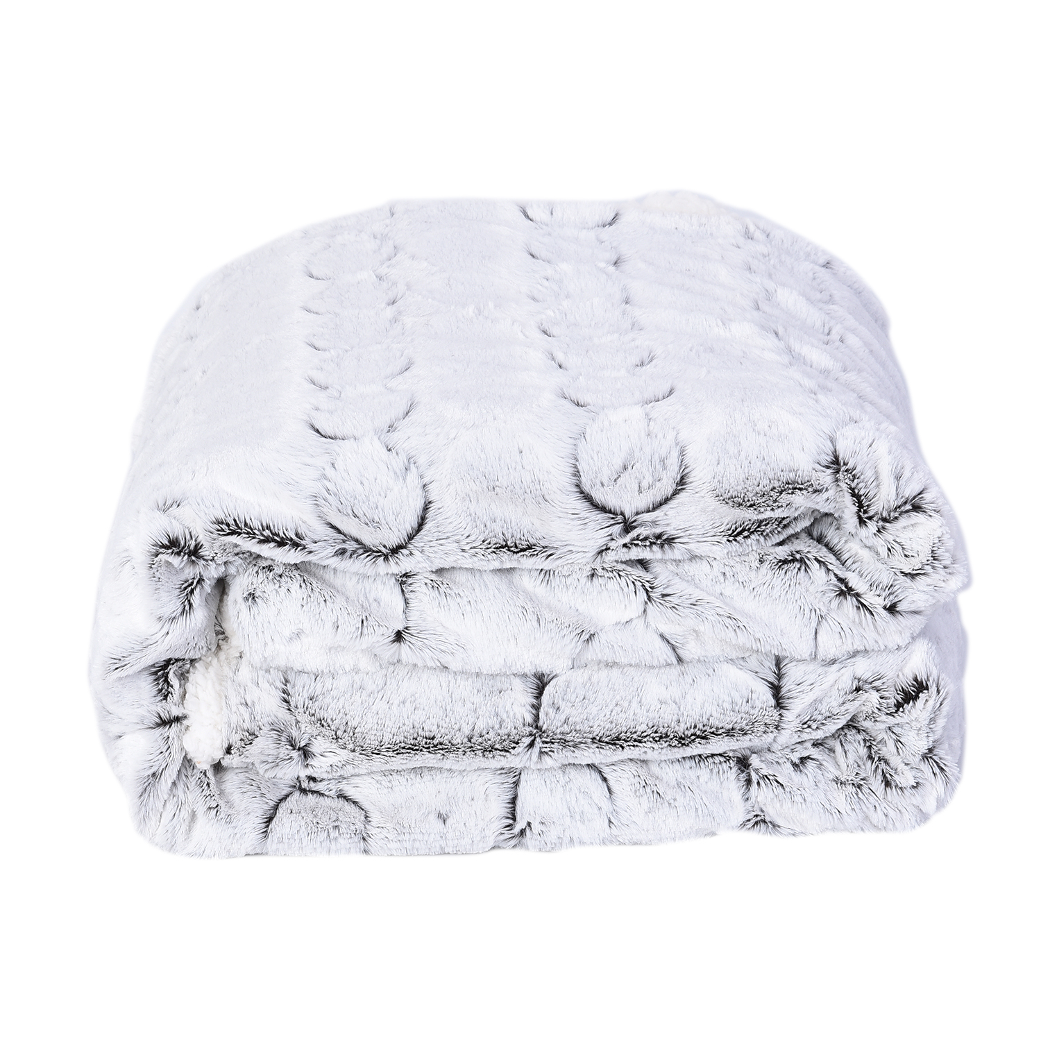 59x79, Acrylic /& Microfiber Details about  /Homesmart Luxury White Wolf Faux Fur Blanket