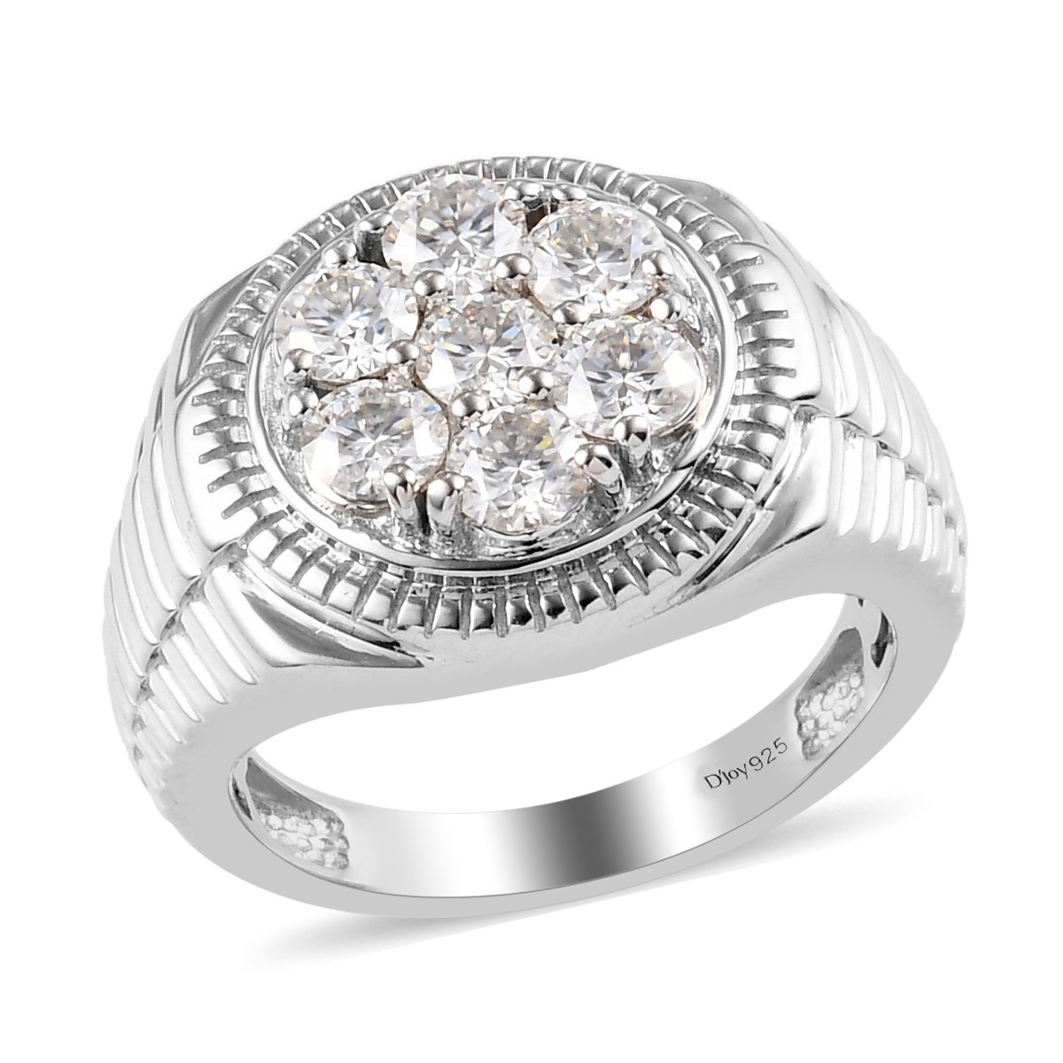Shop LC Platinum Plated 925 Sterling Silver Zircon Charm