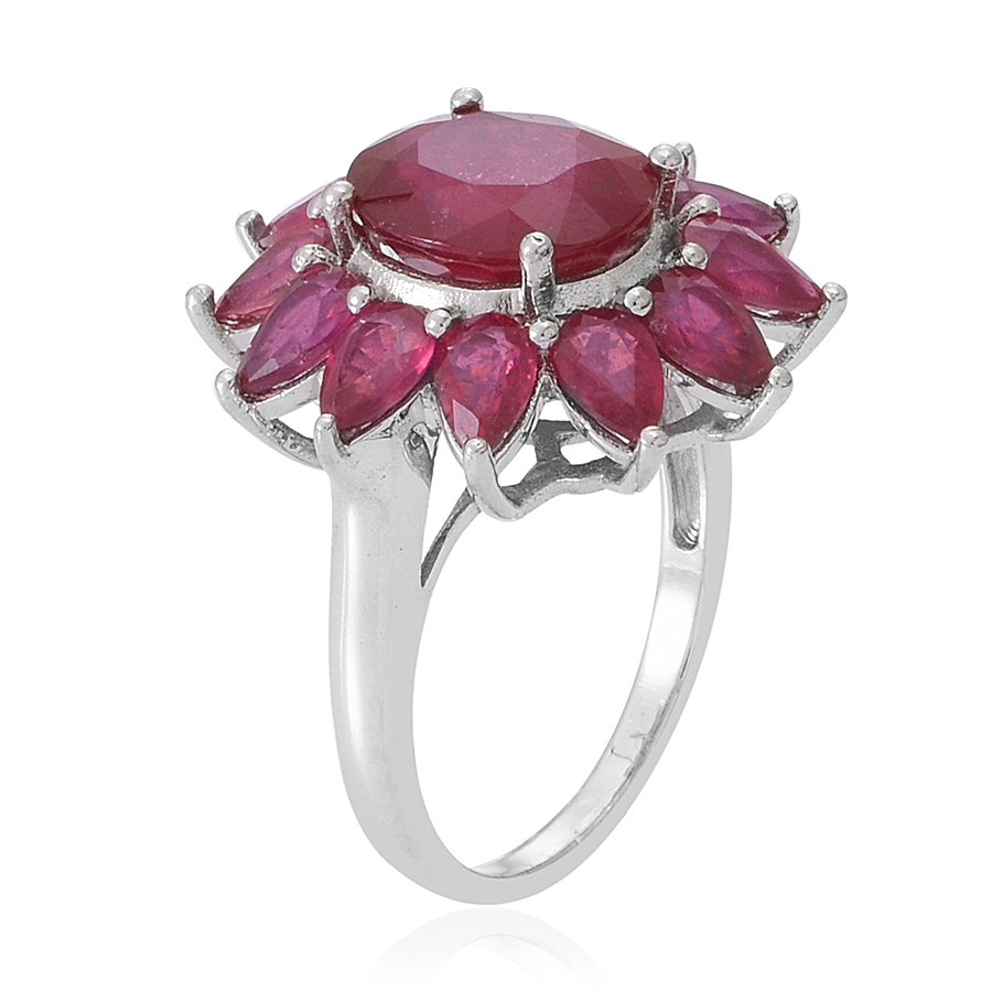 Niassa Ruby Ring in Sterling Silver (Size 6.0) 14.04 ctw