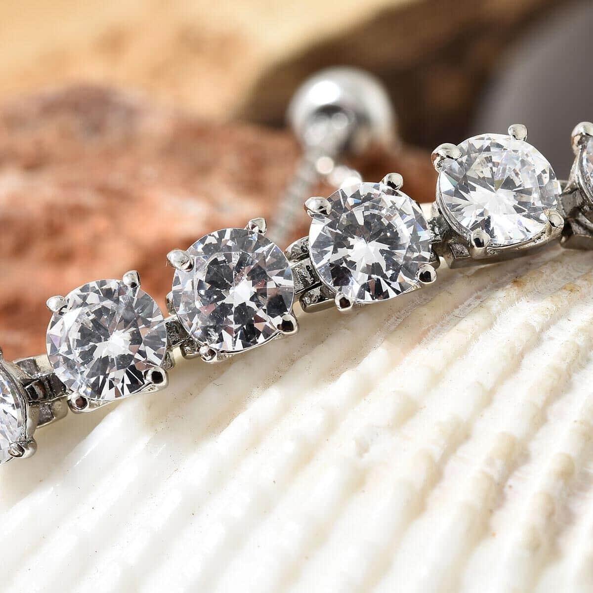 Steel-Cubic-Zirconia-CZ-Orange-Elegant-Adjustable-Bolo-Bracelet-for-Women-Ct-21 thumbnail 30