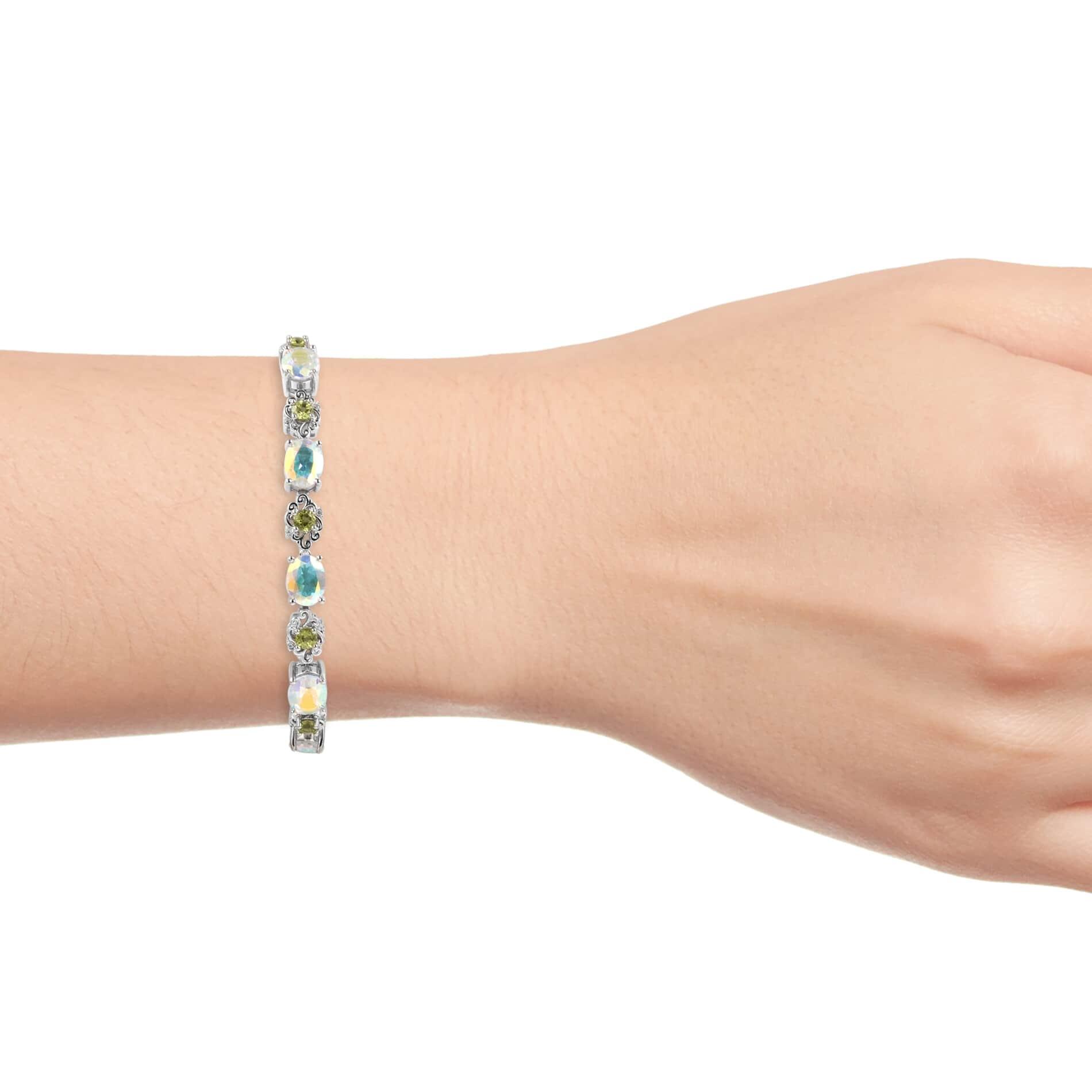 Mercury Mystic Topaz, Multi Gemstone Floral Bolo Bracelet in Sterling  Silver (Adjustable) 13 45 ctw