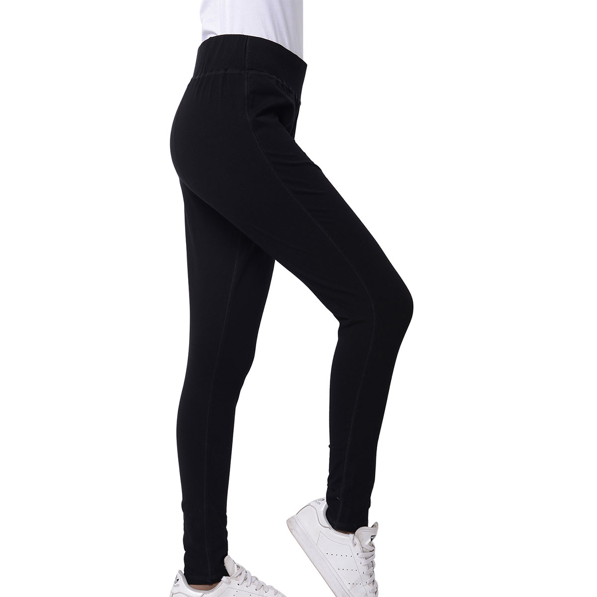 5776cb30e4e Marigold & Lotus Black High Waist Elastic Legging Pants - XL (100% Viscose)