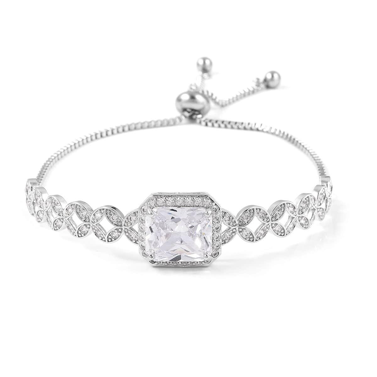 12-Color-Options-Cubic-Zirconia-Bracelet-Chain-Pendant-Necklace-Set-Adjustable thumbnail 98