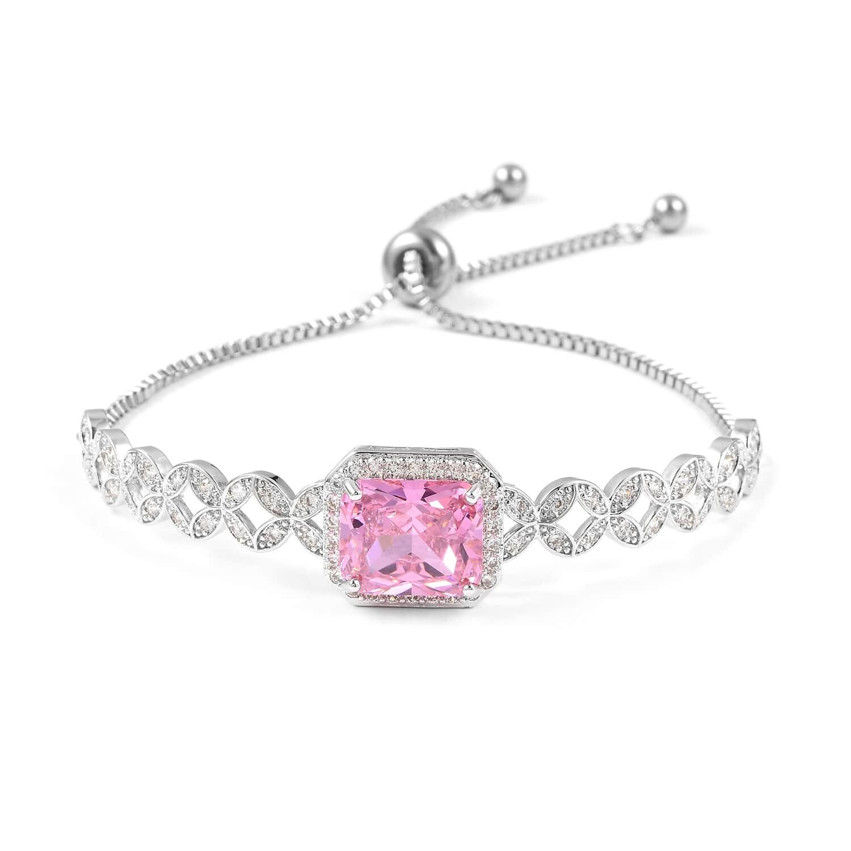 12-Color-Options-Cubic-Zirconia-Bracelet-Chain-Pendant-Necklace-Set-Adjustable thumbnail 63