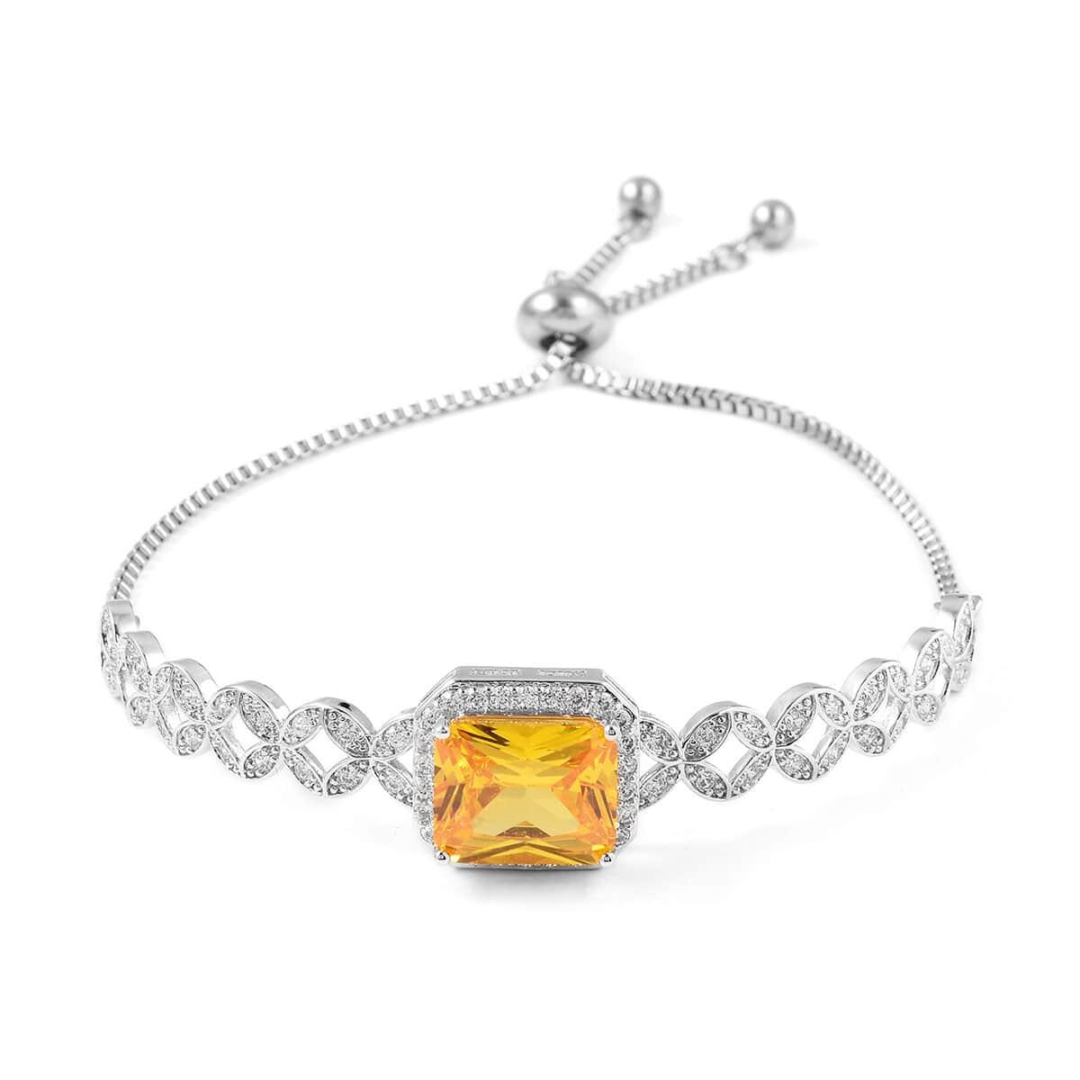 12-Color-Options-Cubic-Zirconia-Bracelet-Chain-Pendant-Necklace-Set-Adjustable thumbnail 107
