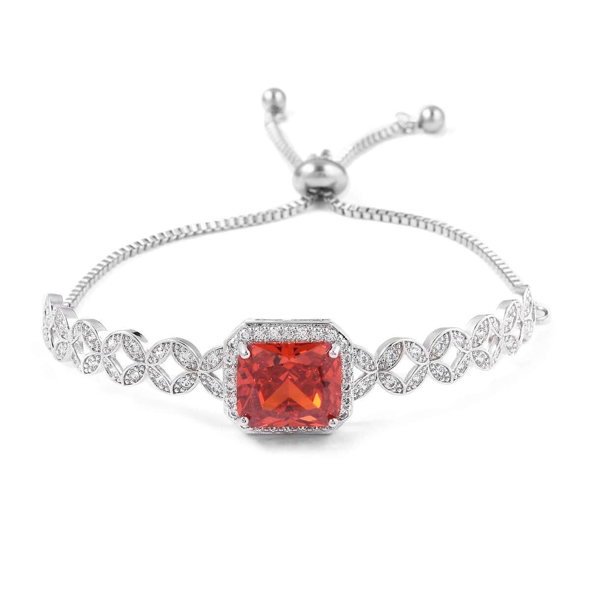 12-Color-Options-Cubic-Zirconia-Bracelet-Chain-Pendant-Necklace-Set-Adjustable thumbnail 54