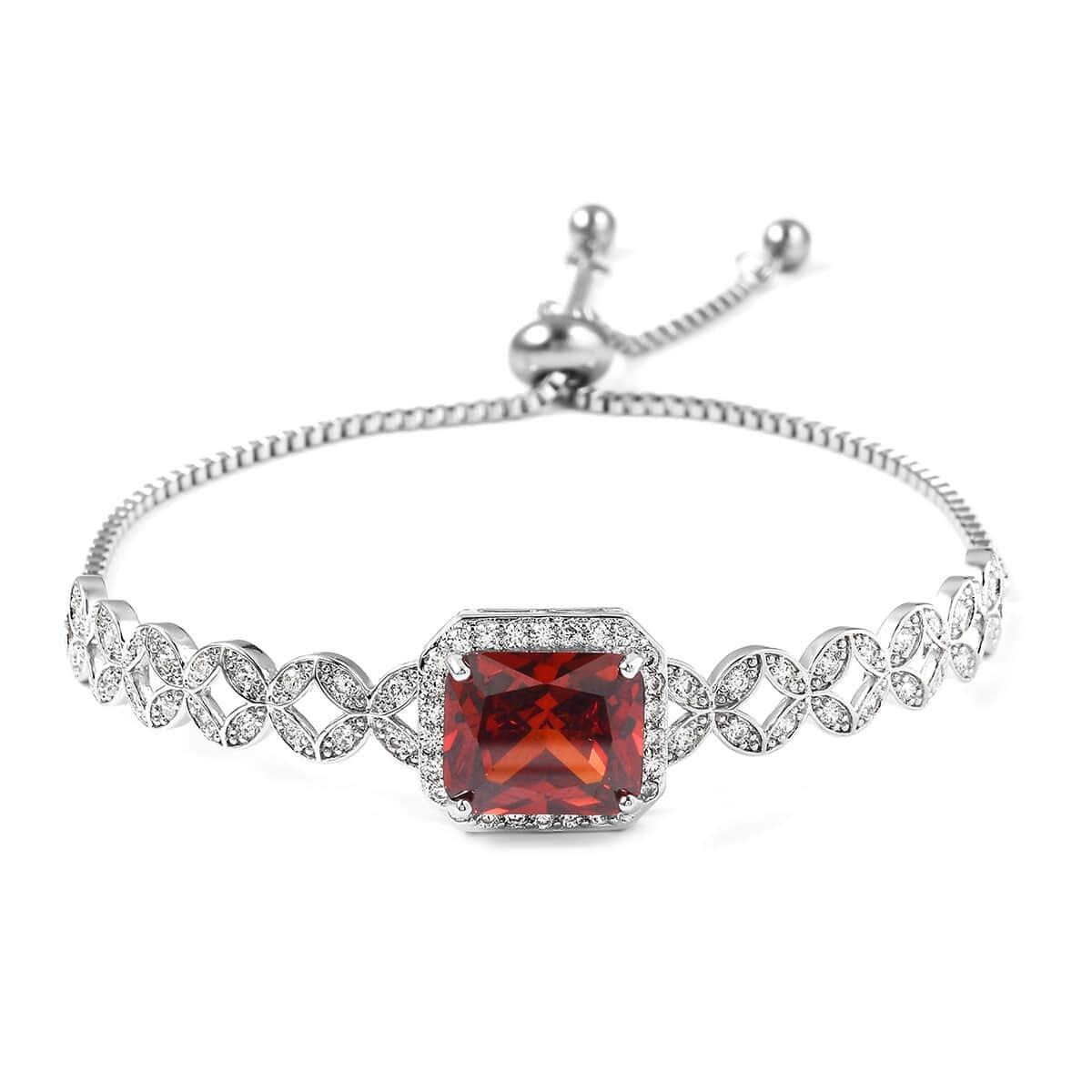 12-Color-Options-Cubic-Zirconia-Bracelet-Chain-Pendant-Necklace-Set-Adjustable thumbnail 81