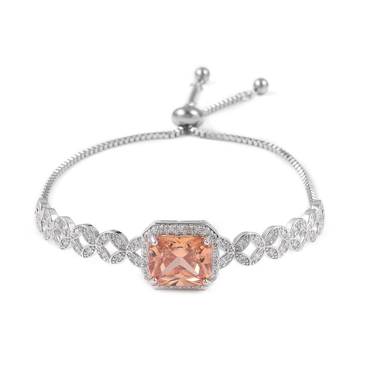 12-Color-Options-Cubic-Zirconia-Bracelet-Chain-Pendant-Necklace-Set-Adjustable thumbnail 20