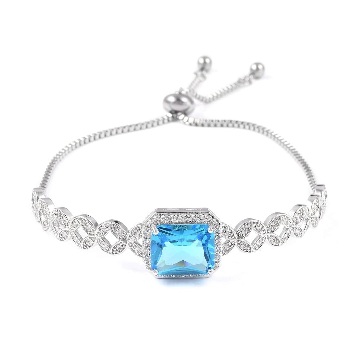 12-Color-Options-Cubic-Zirconia-Bracelet-Chain-Pendant-Necklace-Set-Adjustable thumbnail 90
